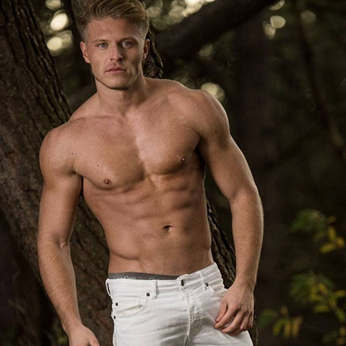 mannelijke stripper Lex